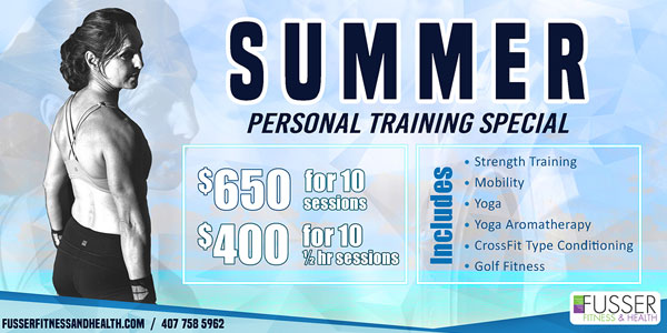 Summer Special personal training flyer.